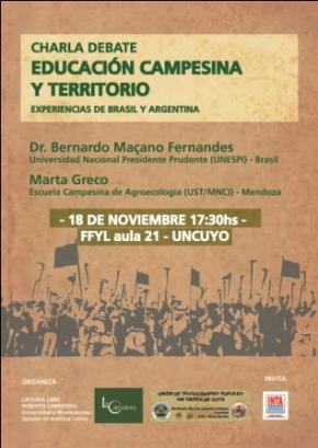 """Charla-Debate: """"Educación campesina yTerritorio"""""""