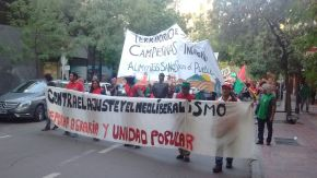 Cerca de 1000 campesinas y campesinos se movilizaron en el centro deMendoza