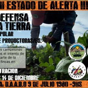 ¡¡¡LAS FAMILIAS CAMPESINAS NO ESTAMOS EN VENTA!!!  Seguimos en pie de lucha para defender latierra
